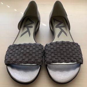 Anne Klein Sport AKKEA Gray Slip On Sandals